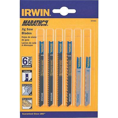 Assorted Bi-Metal Jig Saw Blade Set, 6 Pc, Universal Shank Irwin 3071001