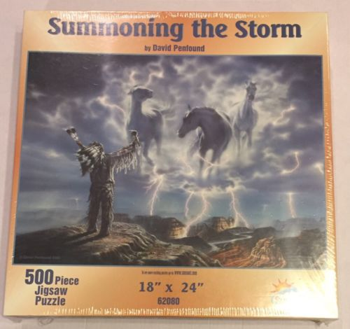 NIP Summoning The Storm David Penfound 500 Piece Jigsaw Suns Out Puzzle Sealed