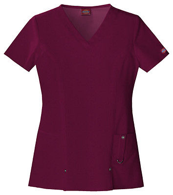 Dickies V-Neck Top 82851 D-Wine WINZ