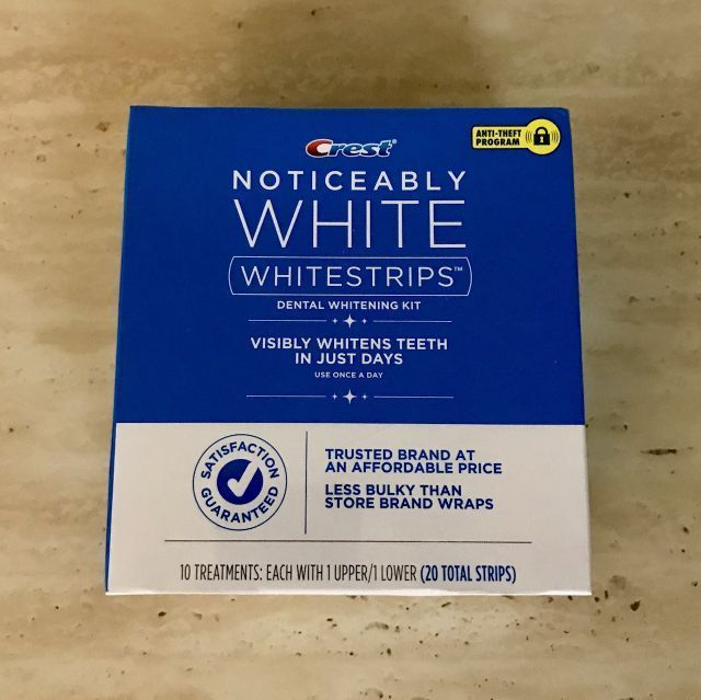 20 Strips - Crest Noticeably White Whitestrips Dental Teeth Whitening Kit