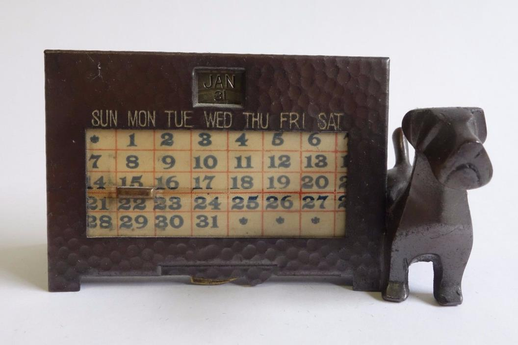 Antique Old K & O Kronheim & Oldenbusch Perpetual Calendar Scottie Terrier Dog