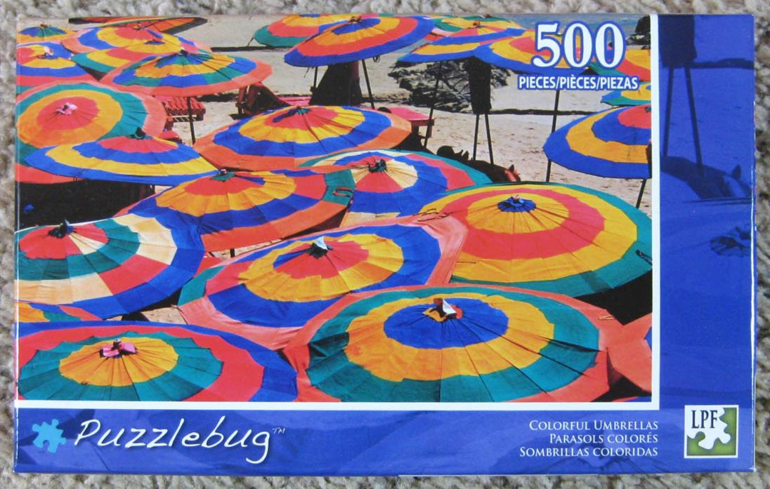 Puzzlebug 500 Piece Jigsaw Puzzle Colorful Umbrellas New