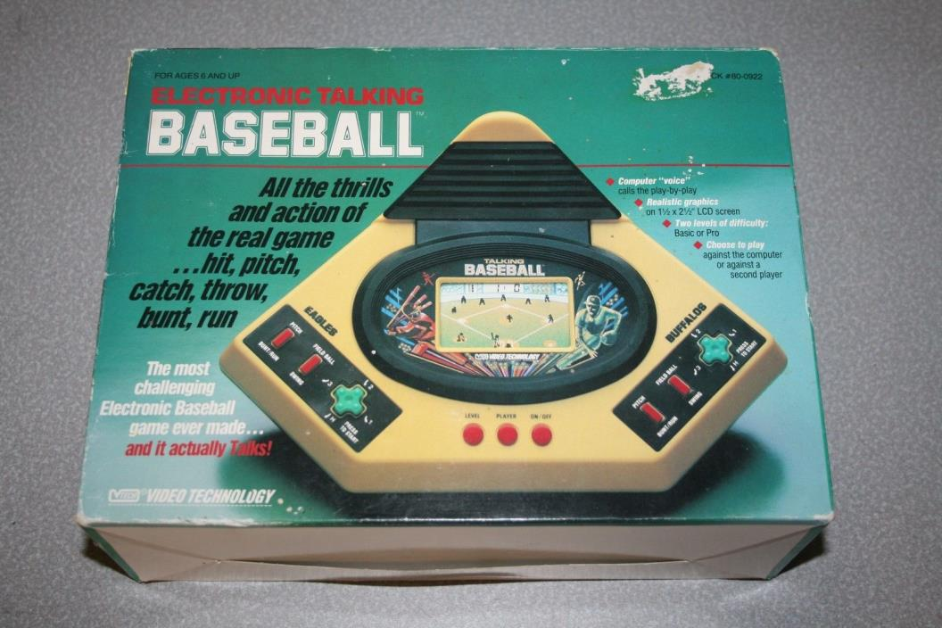 1988 Talking Play by Play Baseball Handheld Electronic Game by VTech Works