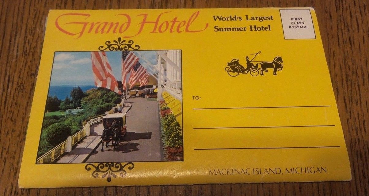 1950's LOT The Grand Hotel - Mackinac Island, Michigan - Vintage Postcard Book
