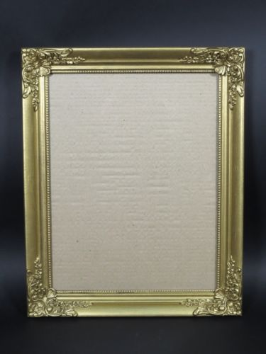 Vintage Gold Painted Wooden Frame for 18 x 14