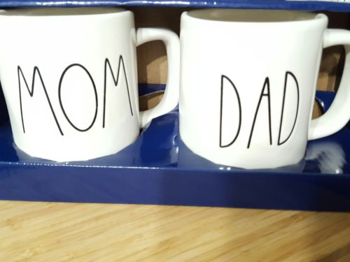 New Rae Dunn Mom and Dad Mug Set Artisan Collection by Magenta