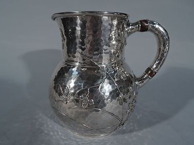 Tiffany Water Pitcher - 3077 - Japonesque - American Sterling Silver Mixed Metal