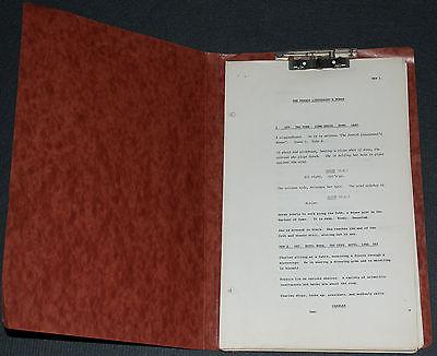 FRENCH LIEUTENANT'S WOMAN 1981 ORIGINAL 162 PAGE 14x9 SCRIPT! MERYL STREEP DRAMA