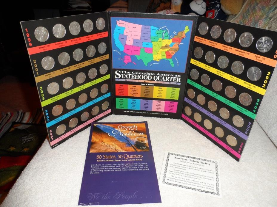 The Complete American Statehood State Quarter Collection 1999-2008