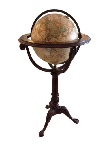 Maitland Smith Mahogany And Brass World Globe