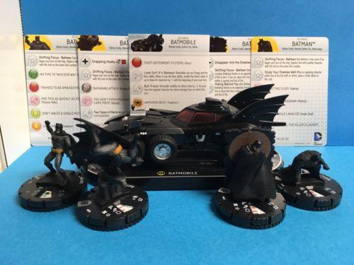Heroclix DC Batmobile V001 Batman 034 Batman 018 Batman 004 Batman 004