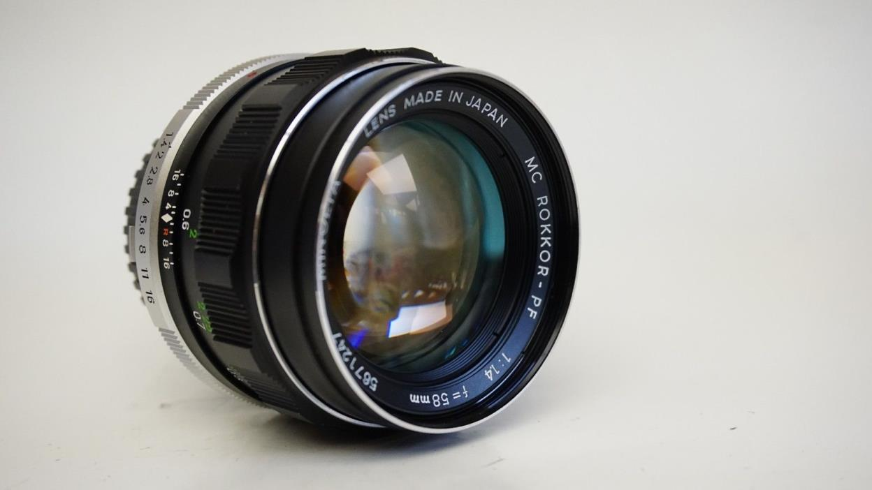 Minolta MC Rokkor-PF 58mm f1.4 With case