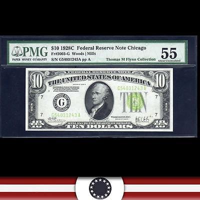 1928-C $10 Chicago FRN. PMG 55  Fr 2003-G   G54031243A