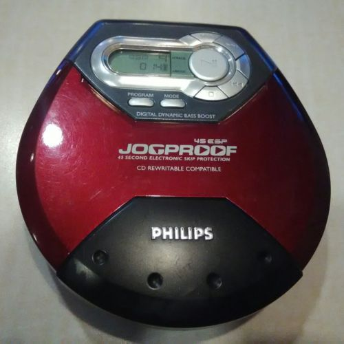 Philips Jogproof Personal Portable CD Player Discman 45 Second ESP AX5123/17