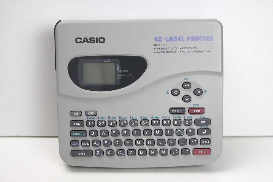 *SALE* CASIO EZ-LABEL KL-1500  -  Label PRINTER 6 Digit Display (Label Maker)