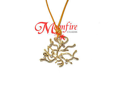 BEAUTY AND THE BEAST BELLE ELEGANT ENCHANTED TREE ROPE PENDANT NECKLACE