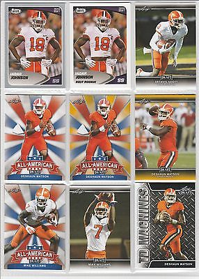 CLEMSON TIGERS 18 CARD LOT DESHAUN WATSON MIKE WILLIAMS DEANDRE HOPKINS AND MORE