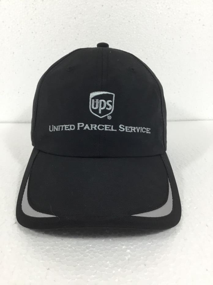 UPS United Parcel Service Baseball Cap Hat  Black Gray One Size Velcro