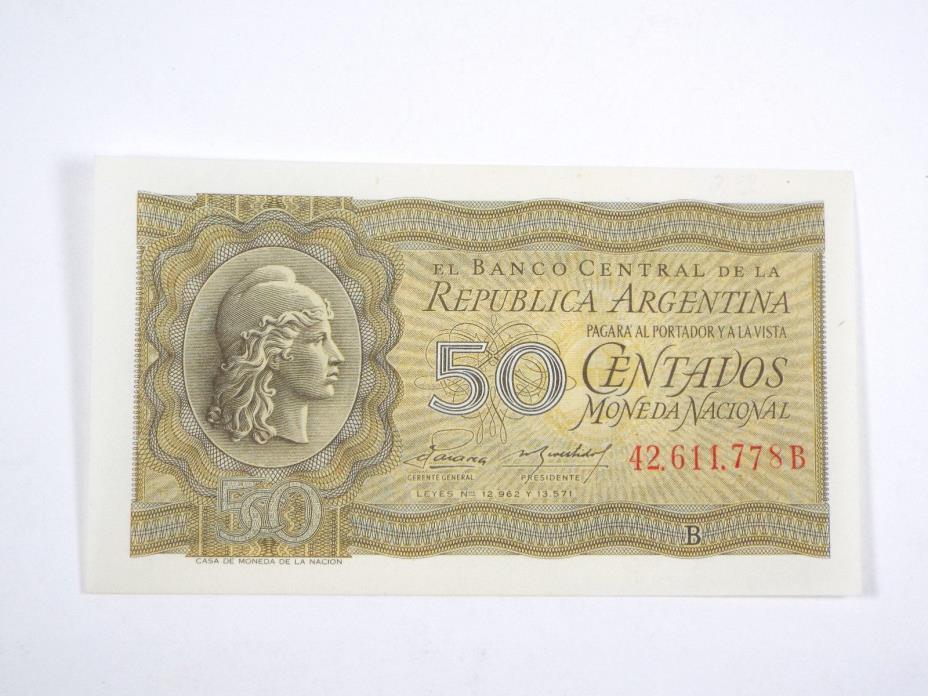 (ND) 1950's Argentina 50 Centavos - UNC