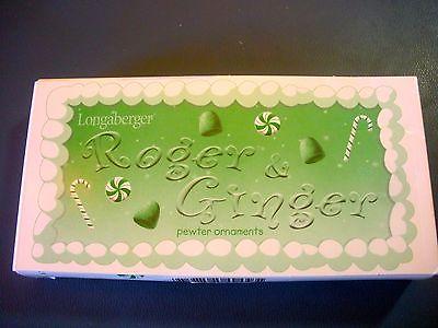 Longaberger ROGER & GINGER Pewter Ornaments - 2000 NIB