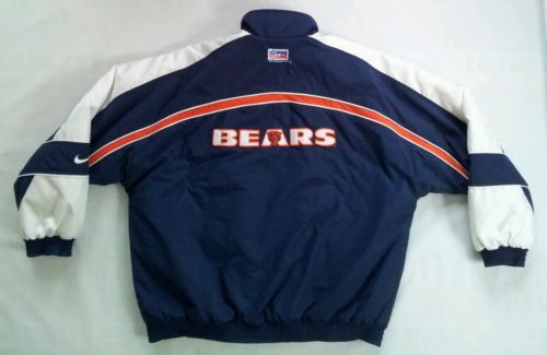 VINTAGE NIKE AUTHENTIC PRO LINE CHICAGO BEARS JACKET IN SIZE L
