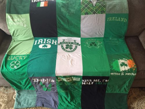 One Of A Kind Irish Themed Tshirt Quilt