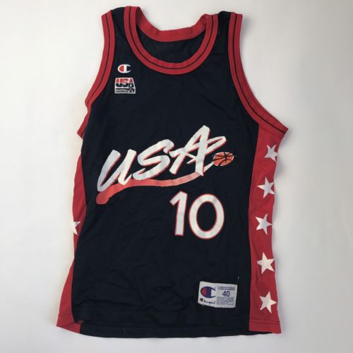 Champion Team USA Jersey Reggie Miller Mens Size 40 Vintage Rare Dream Team AA