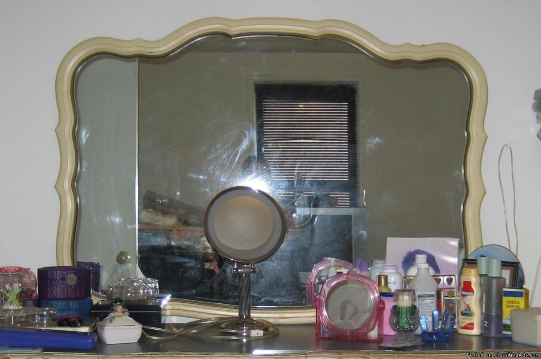 Queen Ann Style All Wood/ Chest, Dresser, Mirror