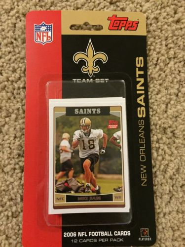 New Orleans Saints Topps 2006 Team Set Drew Brees