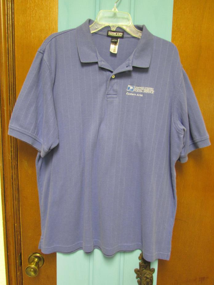 USPS United States Postal Service Eastern Area Light Blue Polo Shirt SZ XL 46-48