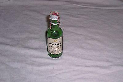 Black & White Buchanan's Blended Scotch Whiskey Glass Mini Bottle