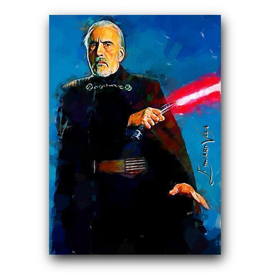 Count Dooku Sketch Card Limited 5/25 Edward Vela Signed