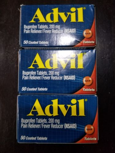 Advil 50 Tablets  (Pack of 3)