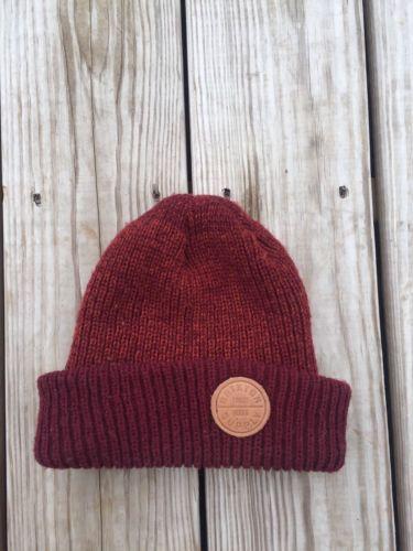Brixton Logo Red Maroon Beanie Hat