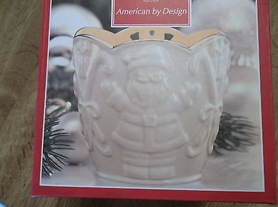 LENOX MERRY LIGHTS SANTA VOTIVE WITH TEA LIGHT #SKU#815905 NIB