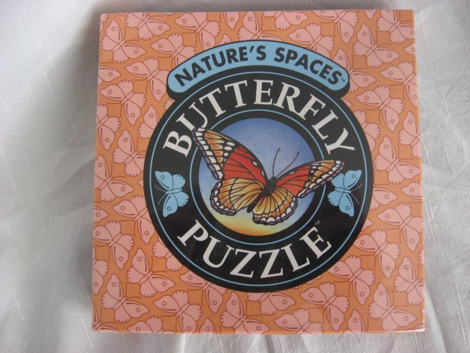Binary Arts 1993 Nature's Spaces Butterfly Space filling Puzzle NEW Nrth America