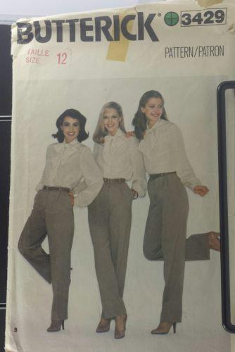 Butterick 3429 size 12 Dress Pants uncut Free Shipping
