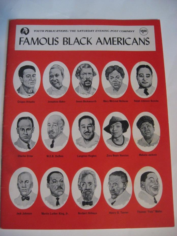 Saturday Evening Post Company Youth Publications Famous Black Americans  1976
