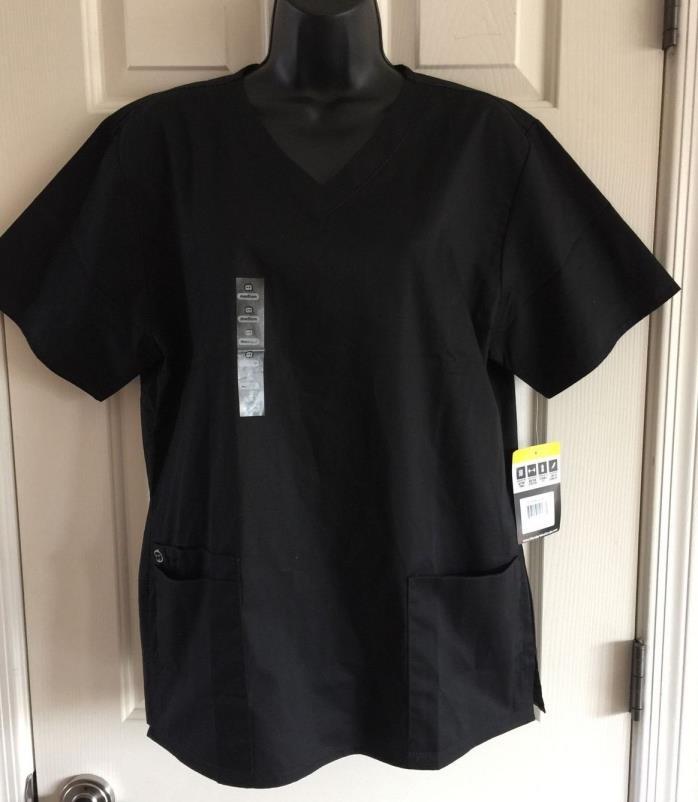 Wonder Wink Wonder Work Women's 101 V Neck Scrub Top Size M Black