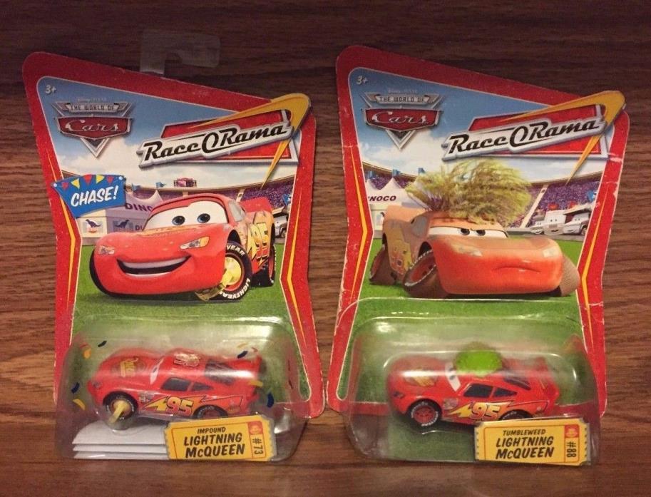 NEW Disney/Pixar Lightning McQueen Impound & Tumbleweed die cast cars 1:55 73 88
