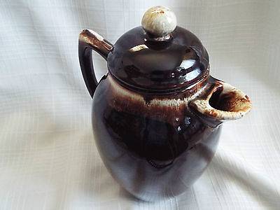 Vintage Brown Glaze Lidded Pfaltzgraff Coffee or Tea Pot