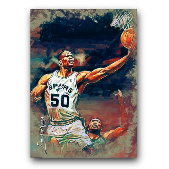 David Robinson #6 Sketch Card Limited 5/25 Edward Vela Signed