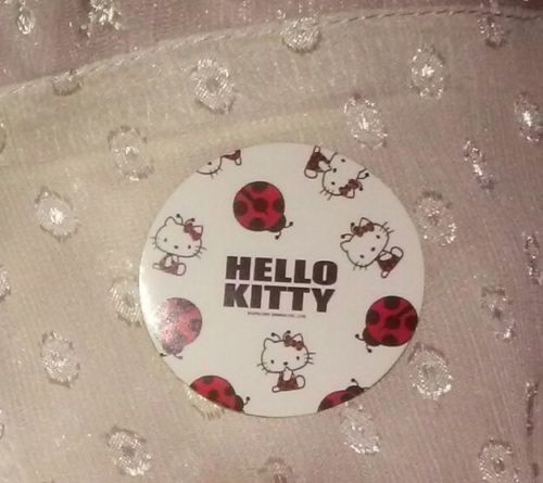 1-7/16in Sanrio Hello Kitty Sticker LADY BUG lady bird red black white