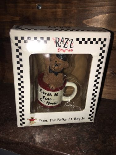 NIB Boyds Bears RAZZ Bearies Collection - Pluto: Earth is Full... Go Home!