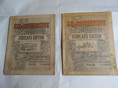 2 Comprehensive Quarterly Magazines 1919 1923 Sunday School Teaching Guides
