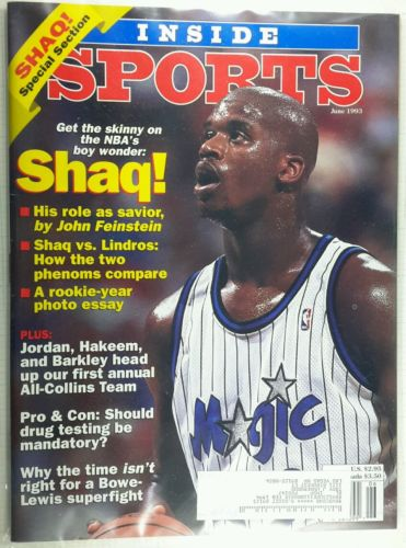 INSIDE SPORTS Shaq Shaquille O'Neal Michael Jordan Hakeem Charles Barkley-6/1993