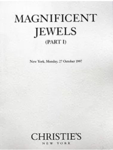Christie's Magnificent Jewels New York 10/27/1997  Part I  Sale Code 1890
