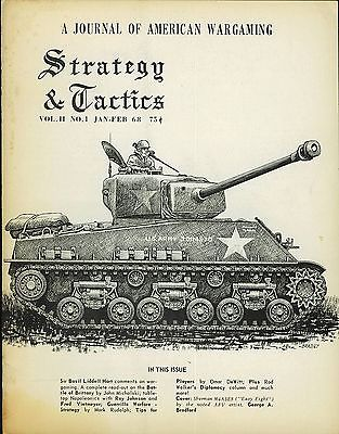 STRATEGY & TACTICS MAGAZINE #11 JAN-FEB 1968  FINE