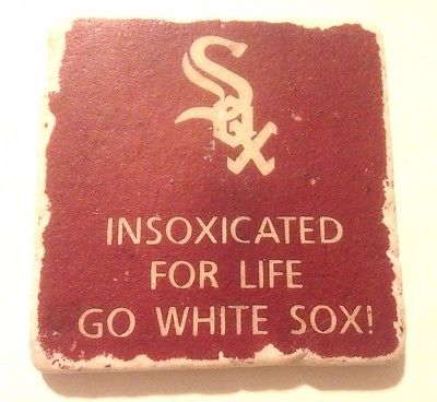 COLLECTIBLE MLB Chicago White Sox Rossana Reformado Stone Coaster FREE SHIPPING!