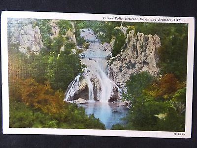 Vintage Linen Postcard - Turner Falls, Oklahoma - Curt Teich, Mid-Continent News